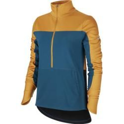 Nike Damen Nk Repel Top Midlayer, Größe Xl In Gold Suede/midnight Turq/refle, Größe Xl In Gold Suede