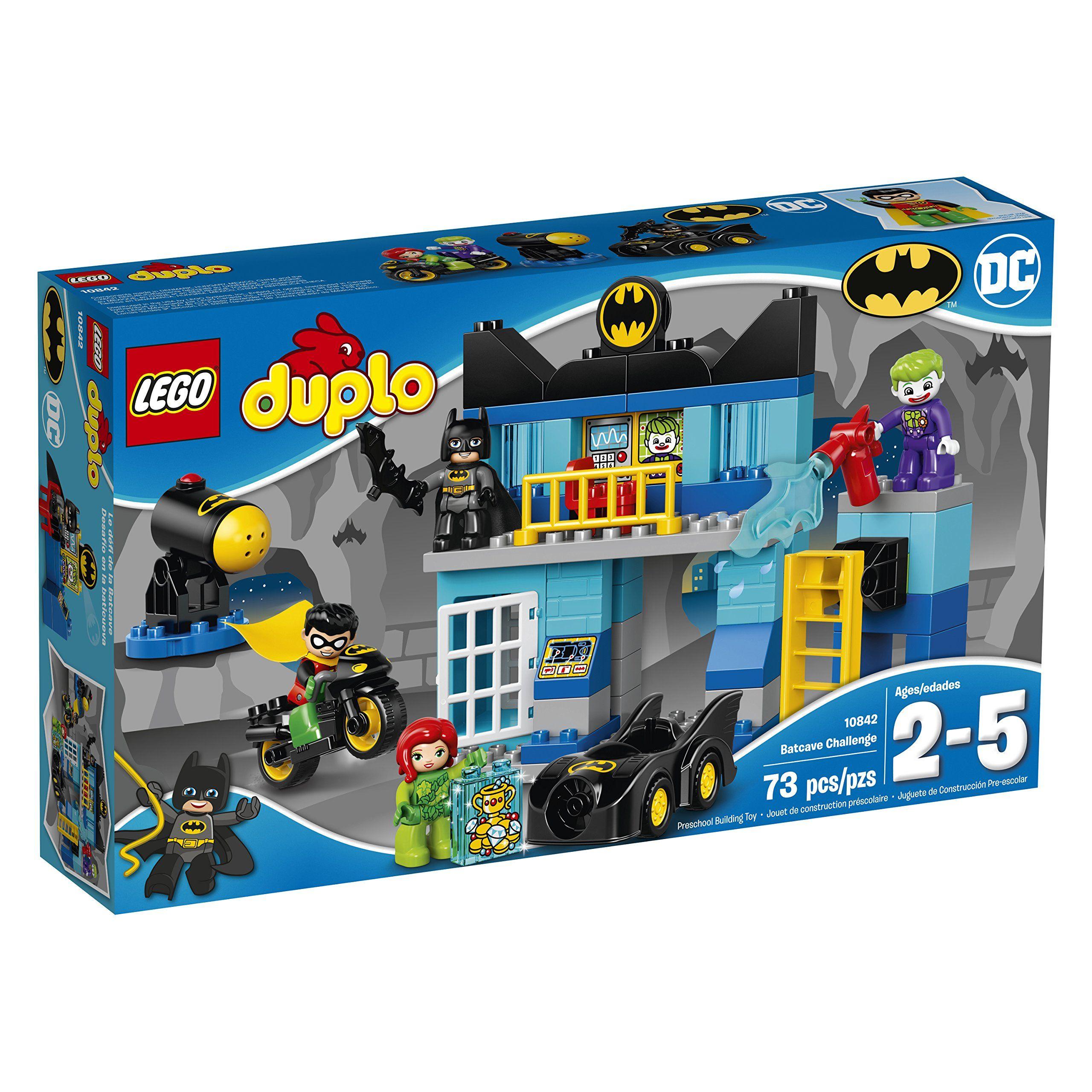 LEGO DUPLO DC ics Super Heroes Batman Batcave Challenge