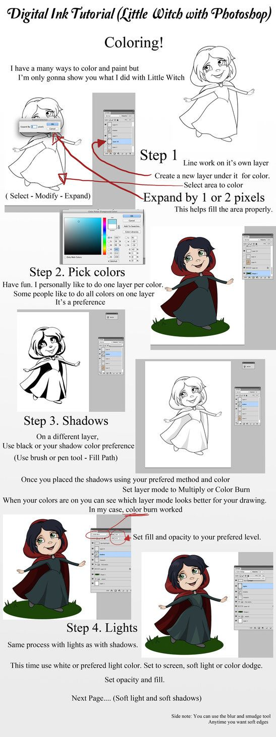 Little witch tutorial coloring page by zellykat tutorials by