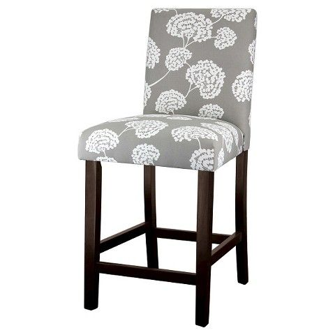 Super Uptown Toile Flora 24 Counter Stool Light Gray Skin Ibusinesslaw Wood Chair Design Ideas Ibusinesslaworg