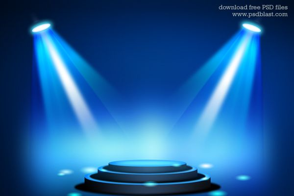 Stage Lighting Background With Spot