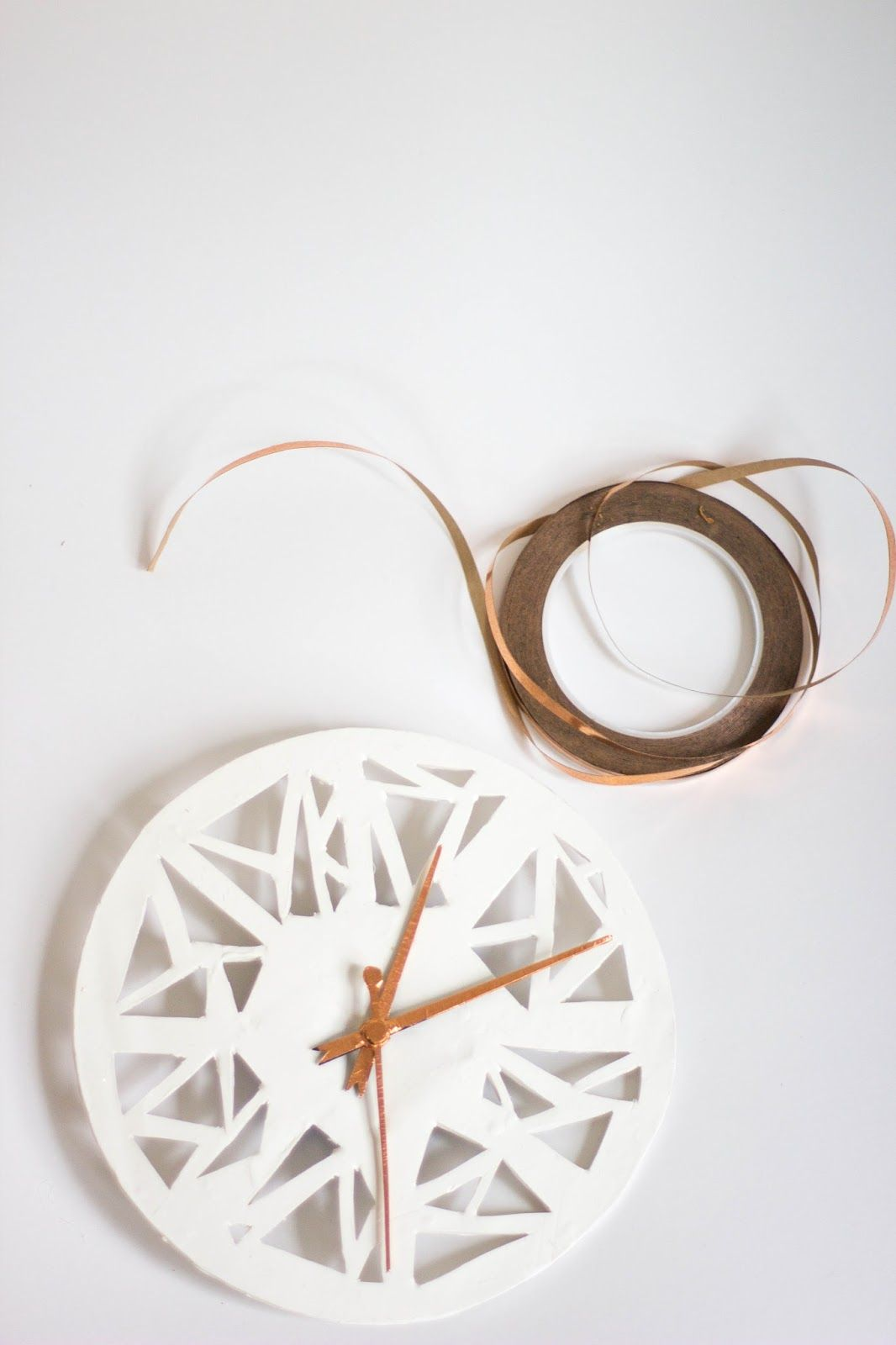 Copper geometric shape clock clocks shapes and repurposing always rooney is dedicated to offering new do it yourself projects tips on solutioingenieria Gallery