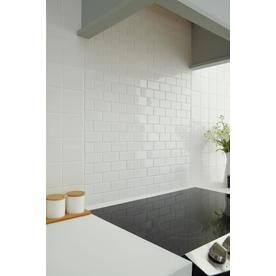 American Olean Starting Line White Gloss Brick Mosaic Ceramic Wall Tile Common 12 In X Actual At Lowes