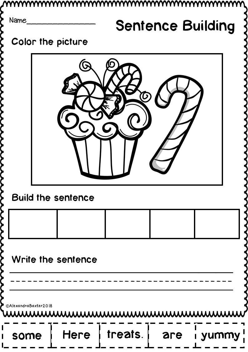 This Resource Is A Selection Of 10 Sentence Building Sentence Scramble Worksheets Kindergarten Worksheets Kindergarten Worksheets Printable Sentence Building [ 1126 x 794 Pixel ]
