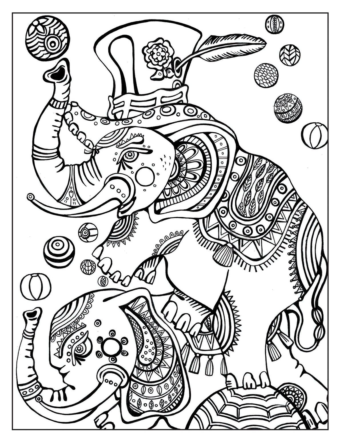 A Day At The Circus Coloring Page On Behance Coloring Pages
