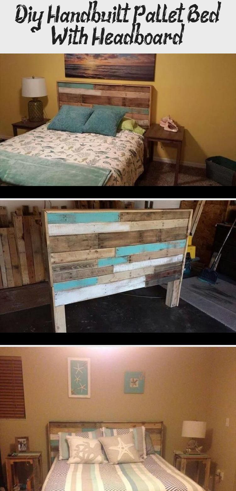 Photo of Diy Hand-built Pallet Bed With Headboard – Pallet