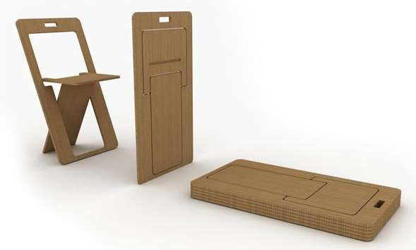 Fold Flat Chairs Cardboard Furniture Design Foldable Furniture Portable Furniture
