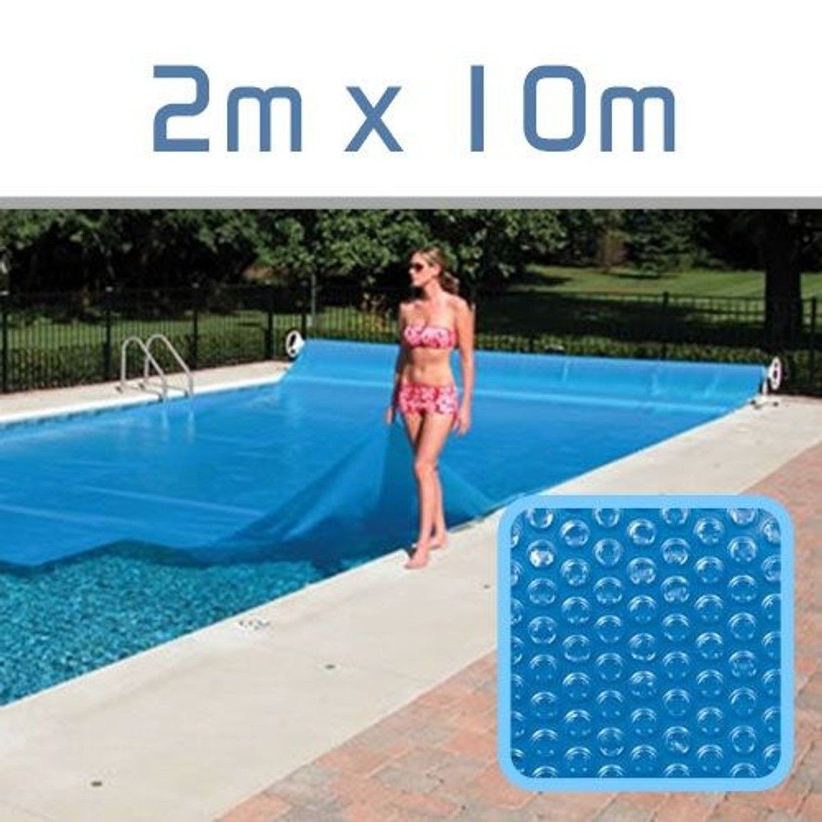 B che bulles 300 microns pour piscine 2m x 10m b che - Chauffer sa piscine avec tuyau noir ...