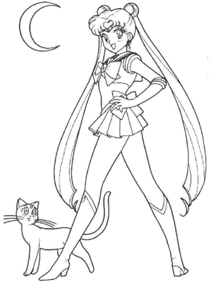 Pin by Crystal Streit-Beetham on Sailor moon   Dibujos para colorear ...