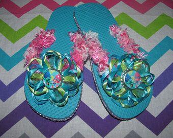 Trolls Poppy & Branch Flip Flops - Kids Size 13/1