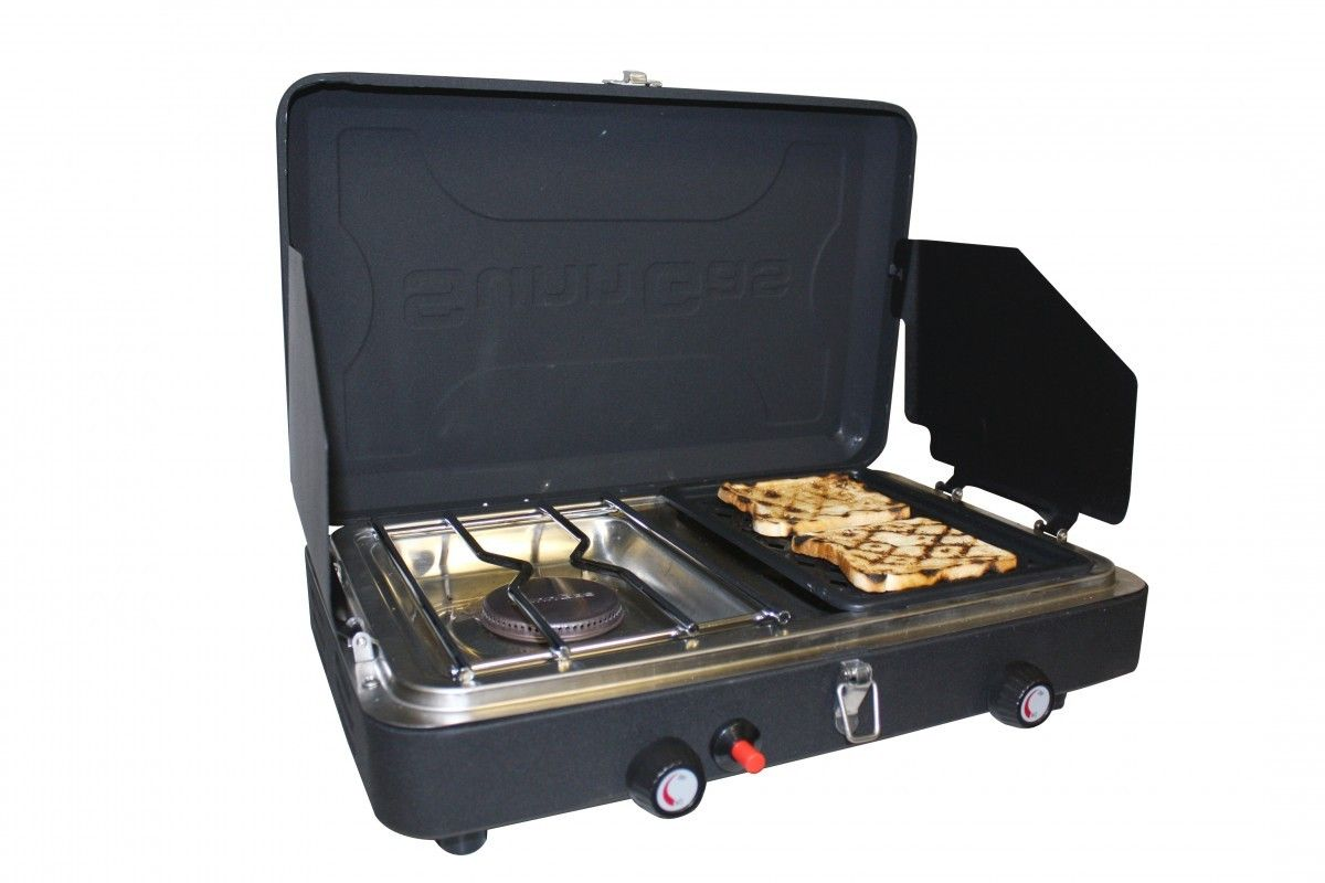 Magellan Outdoorstm 2 Burner Stove With Grill