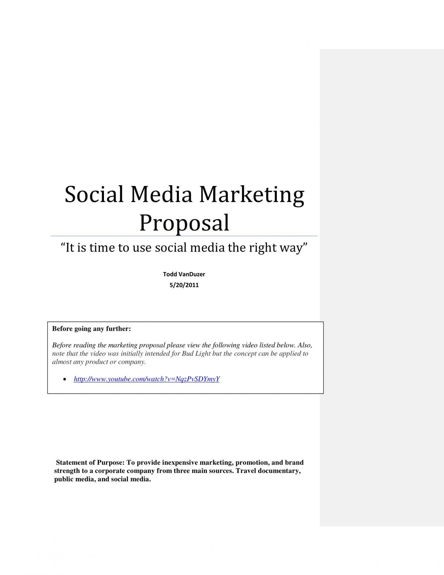 Cross Promotion Proposal Template Proposal Templates Marketing Proposal Marketing Proposal Template