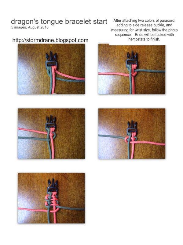 Dragon S Tongue Paracord Bracelet Paracord Diy Paracord Bracelets Paracord