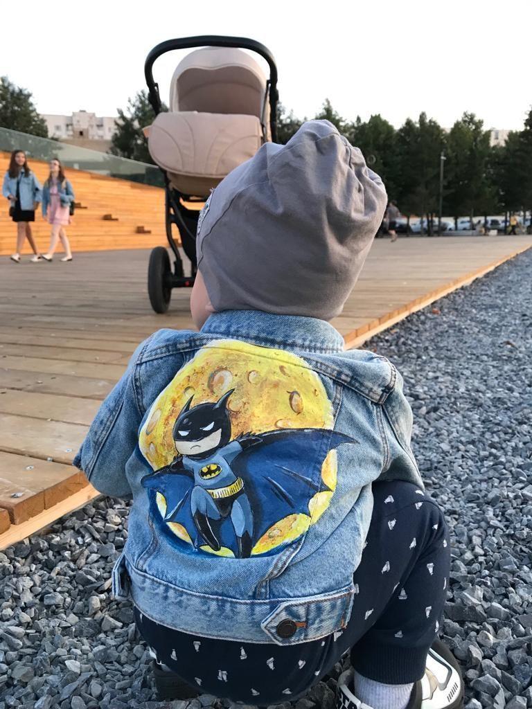 Custom Painted Baby Boy Jacket With Batman Superhero Baby Batman Boy Boyfriendgiftbirth Baby Boy Jackets Painted Jacket Hand Painted Denim Jacket [ 1024 x 768 Pixel ]