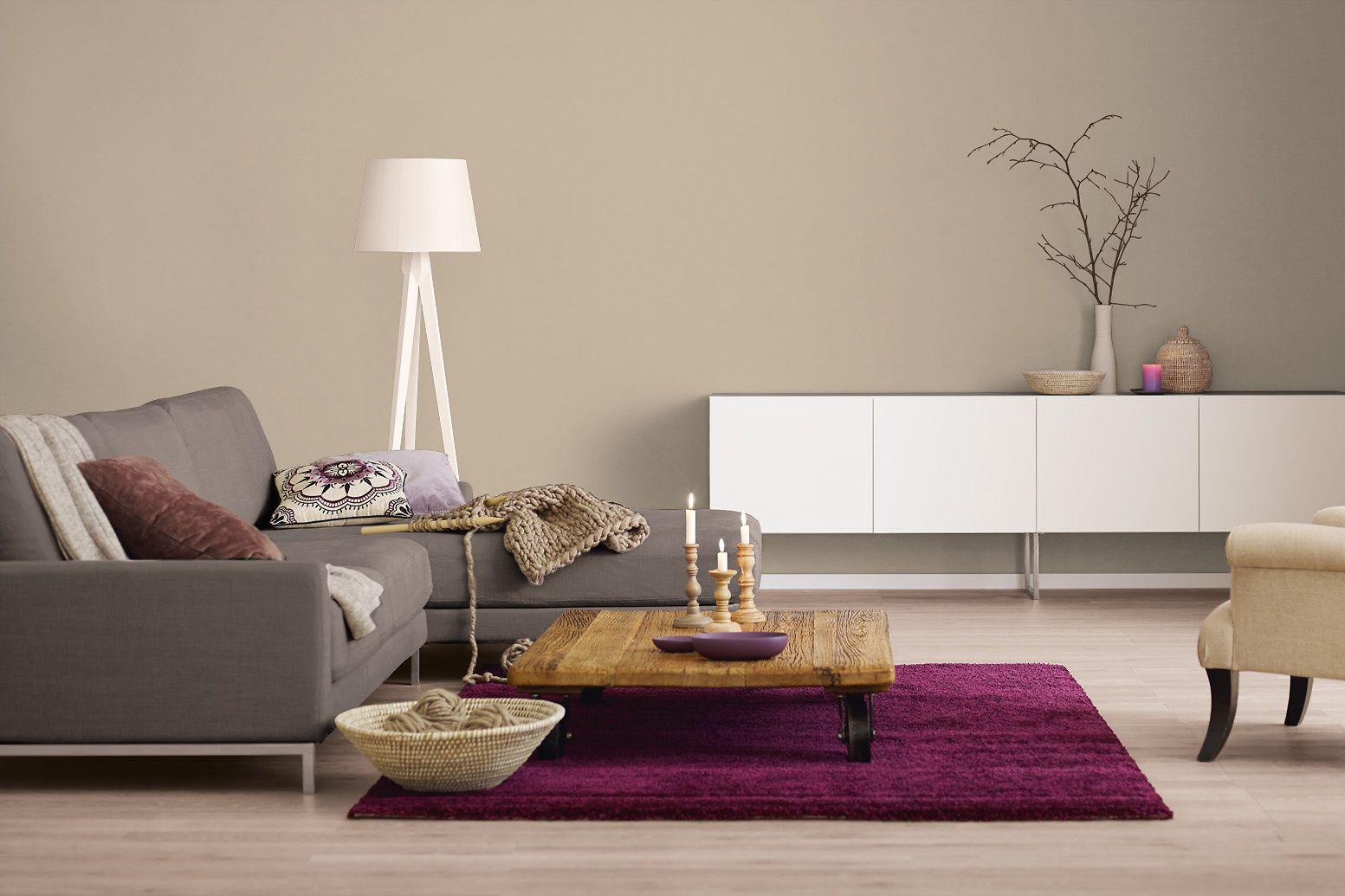 Farbkombinationen wohnzimmer ~ Innenfarbe in braun taupe streichen: alpina farbrezepte zartes