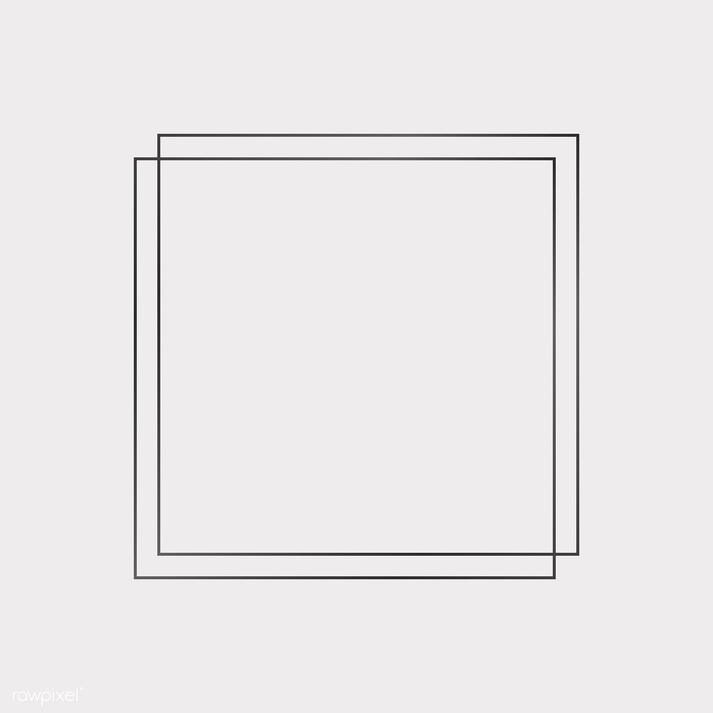 Square Black Frames On A Blank Background Vector Free Image By Rawpixel Com Sasi Blank Background Instagram Frame Template Photo Collage Template