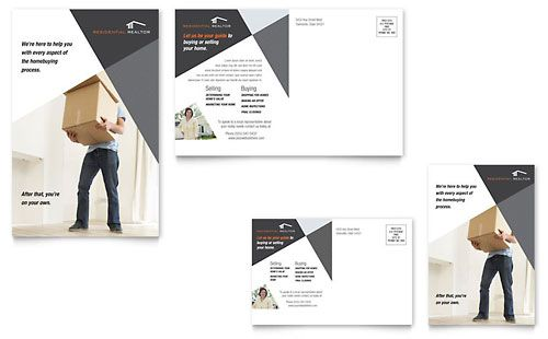 Advertising postcards templates