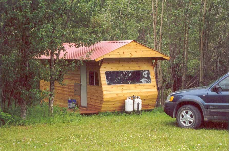 Quot Canned Ham Quot Camper Covered In Knotty Pine And A Pitched