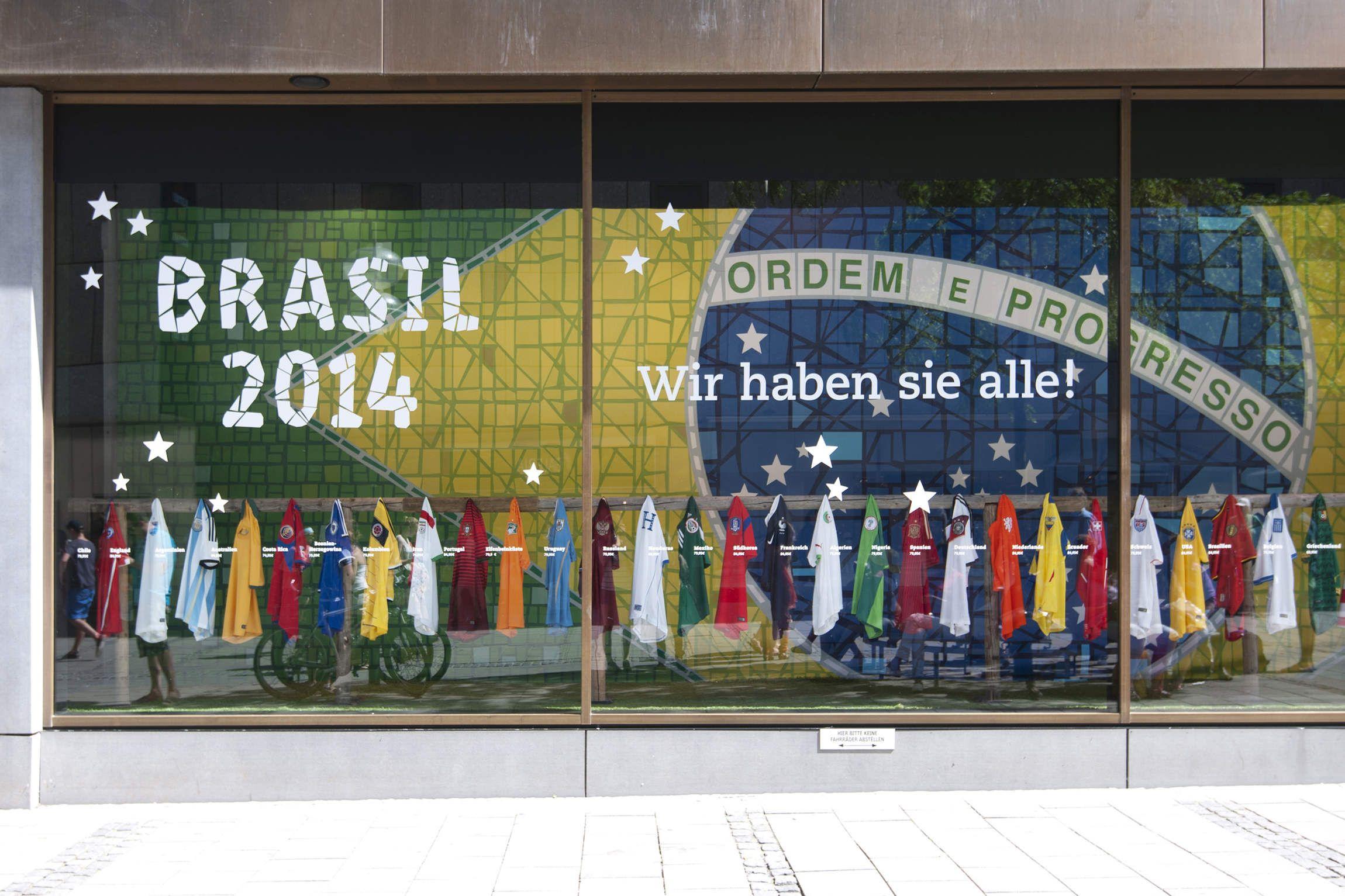 Amüsant Schaufensterdekoration Beispiele Sammlung Von Ter / Ter – Aktion Fußball-wm 2014