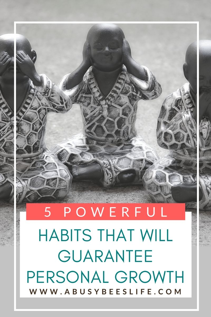 There are powerful habits you can implement in your life that will guarantee personal growth. Click through to read more on how you can guarantee personal growth today and everyday! via @abusybeeslife