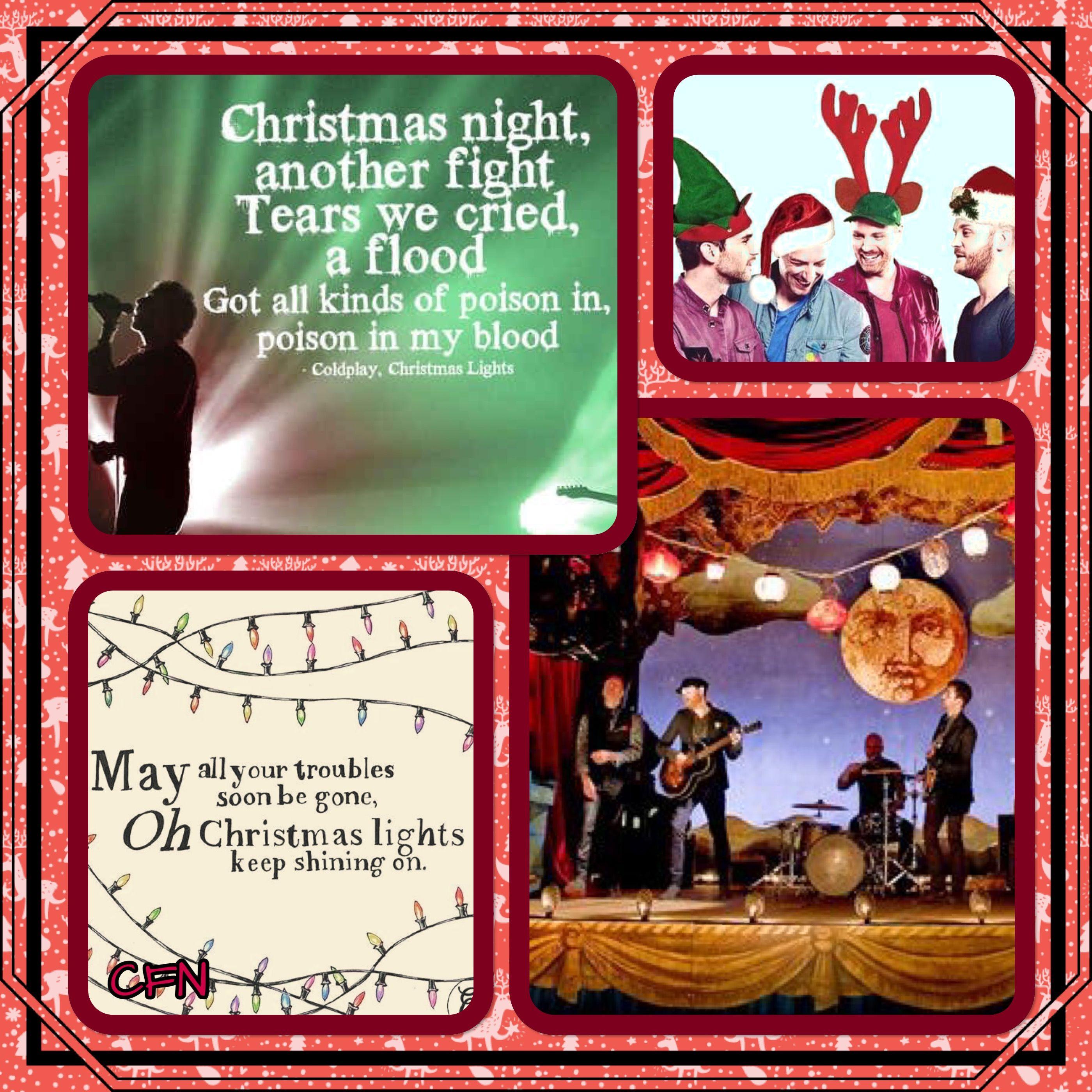 Coldplay Christmas Collage 1 Coldplay Music Lyrics