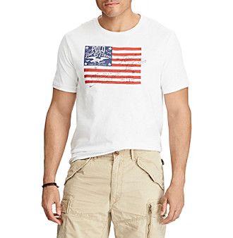 Polo Ralph Lauren® Men's Big & Tall American Flag Tee