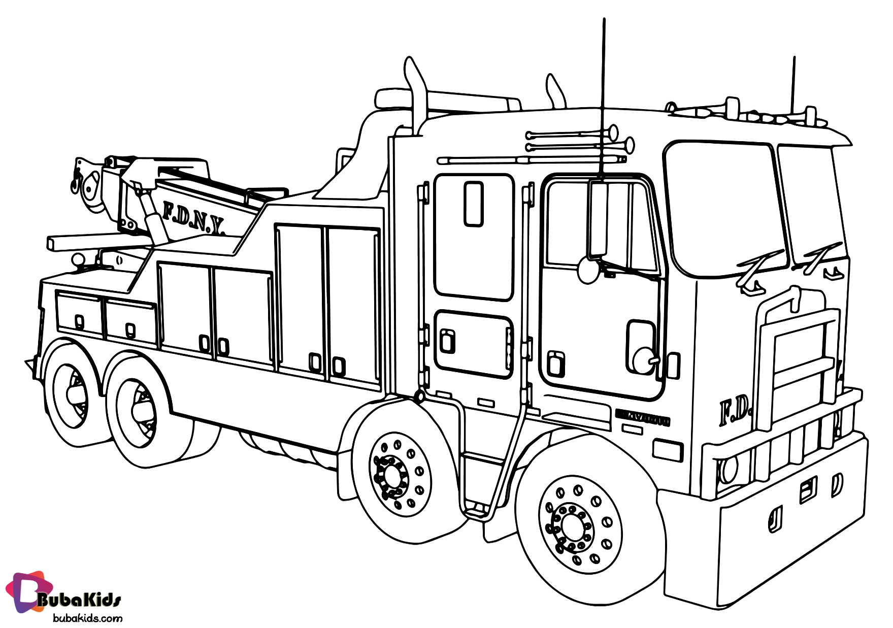 Fire engine fire truck coloring page in 2020 | Truck ...