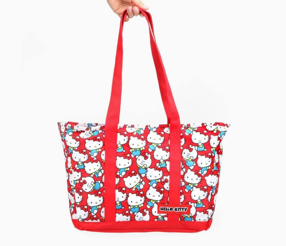 New Hello Kitty Sanrio Print Tote Bag Kawai Japan Free Shipping Big ribbon