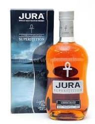 JURA SUPERSTITION:  Made up of whiskies aged for 13 years and 21 years, with 13 percent heavily peated malt. It turns out Stevie was wrong, Superstition is the way…  Nose, initial gristy cereal gives way to evocative smoke and heady malt. It's quite sweet and creamy, and reminds us of Chantilly cream. Palate, sweet and porridge-like. A cereal fest on the tongue, with hints of white pepper and black forest honey with hot buttered toast. Light and oily. Finish, medium length with cocoa.