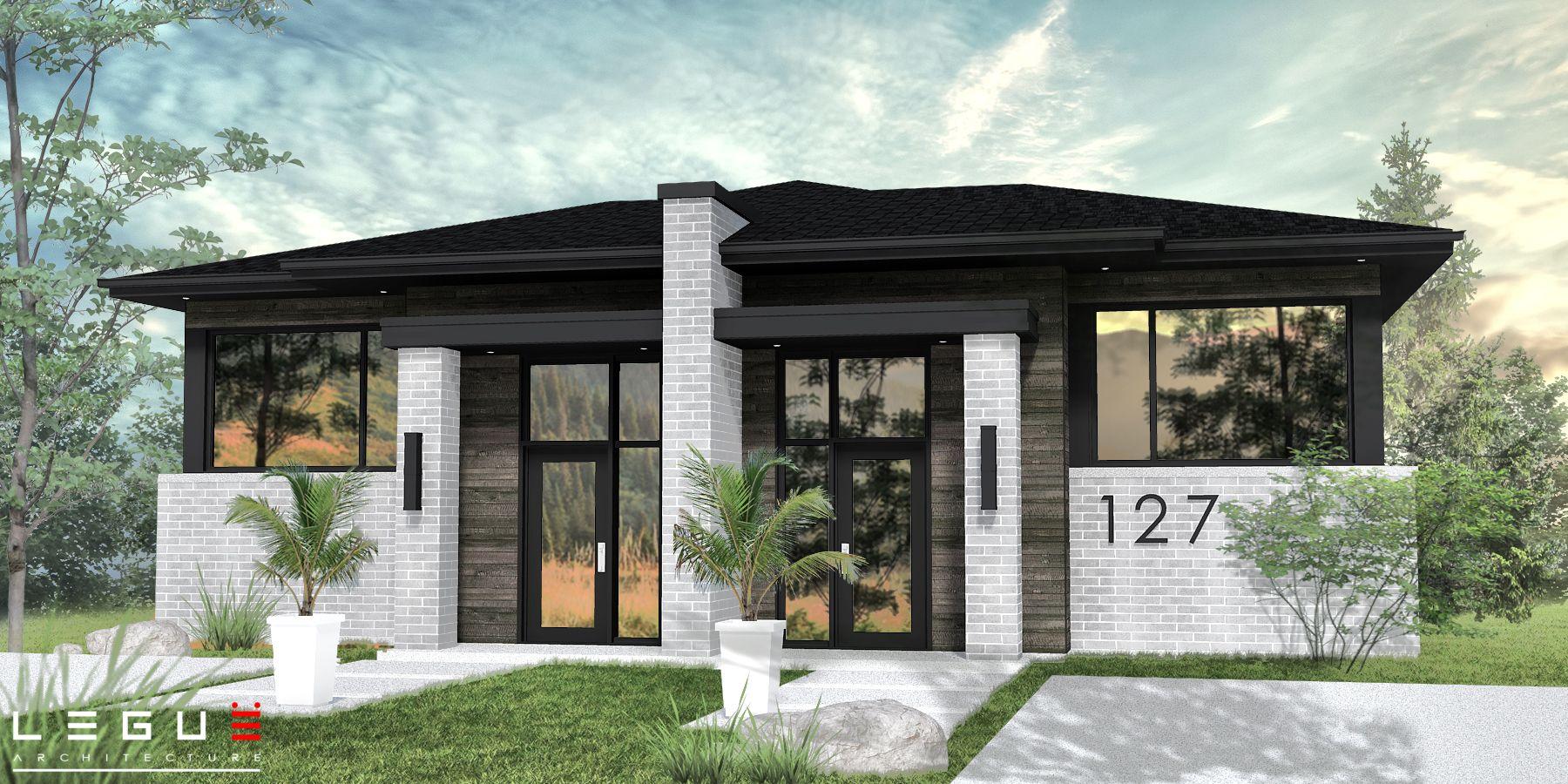 Ë_127 en 2020 | Plan maison, Plans de maison duplex, Plan maison moderne