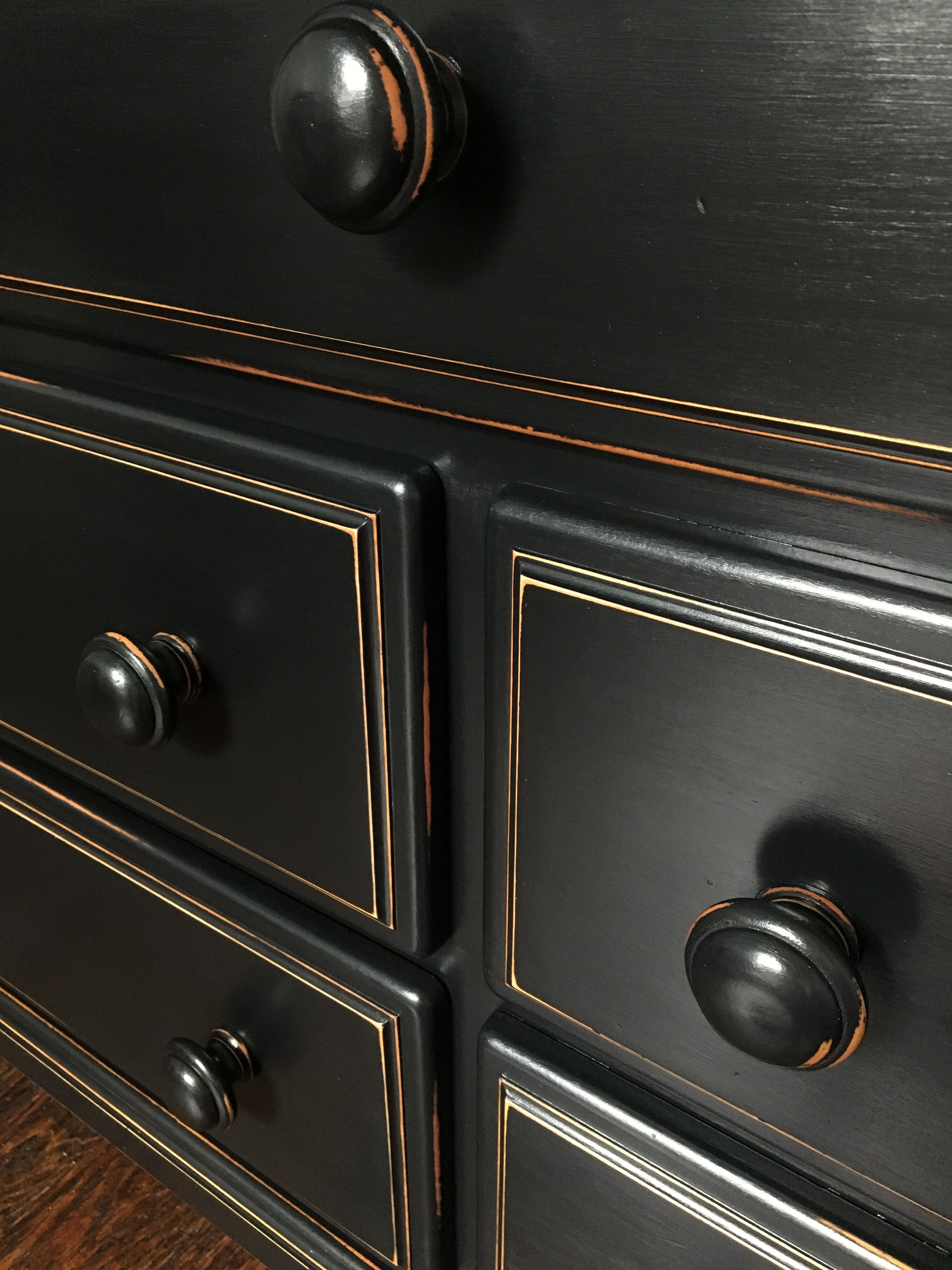 General Finishes Milk Paint in Lamp Black and Semi Gloss ...