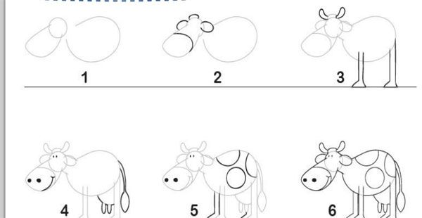 Cómo Aprender A Dibujar Dibujos Animados Paso A Paso: Cómo Dibujar Animales Paso A Paso. Guías De Dibujo
