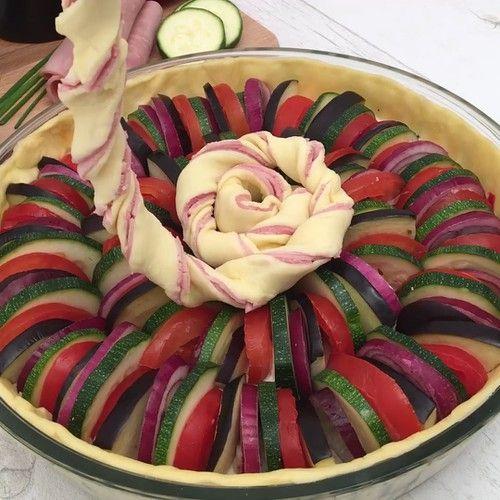 La tarte spirale colorée