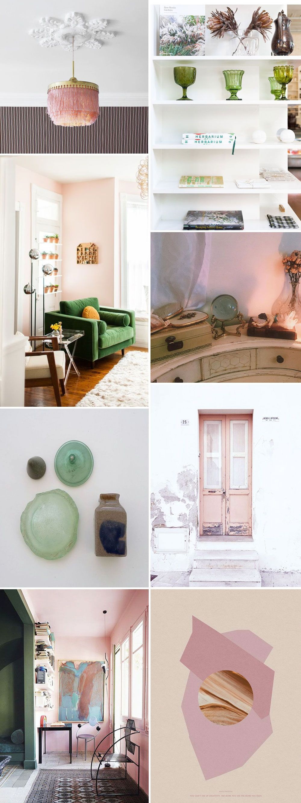 Pale Pink & Green Home Decor Inspiration Sfgirlbybay