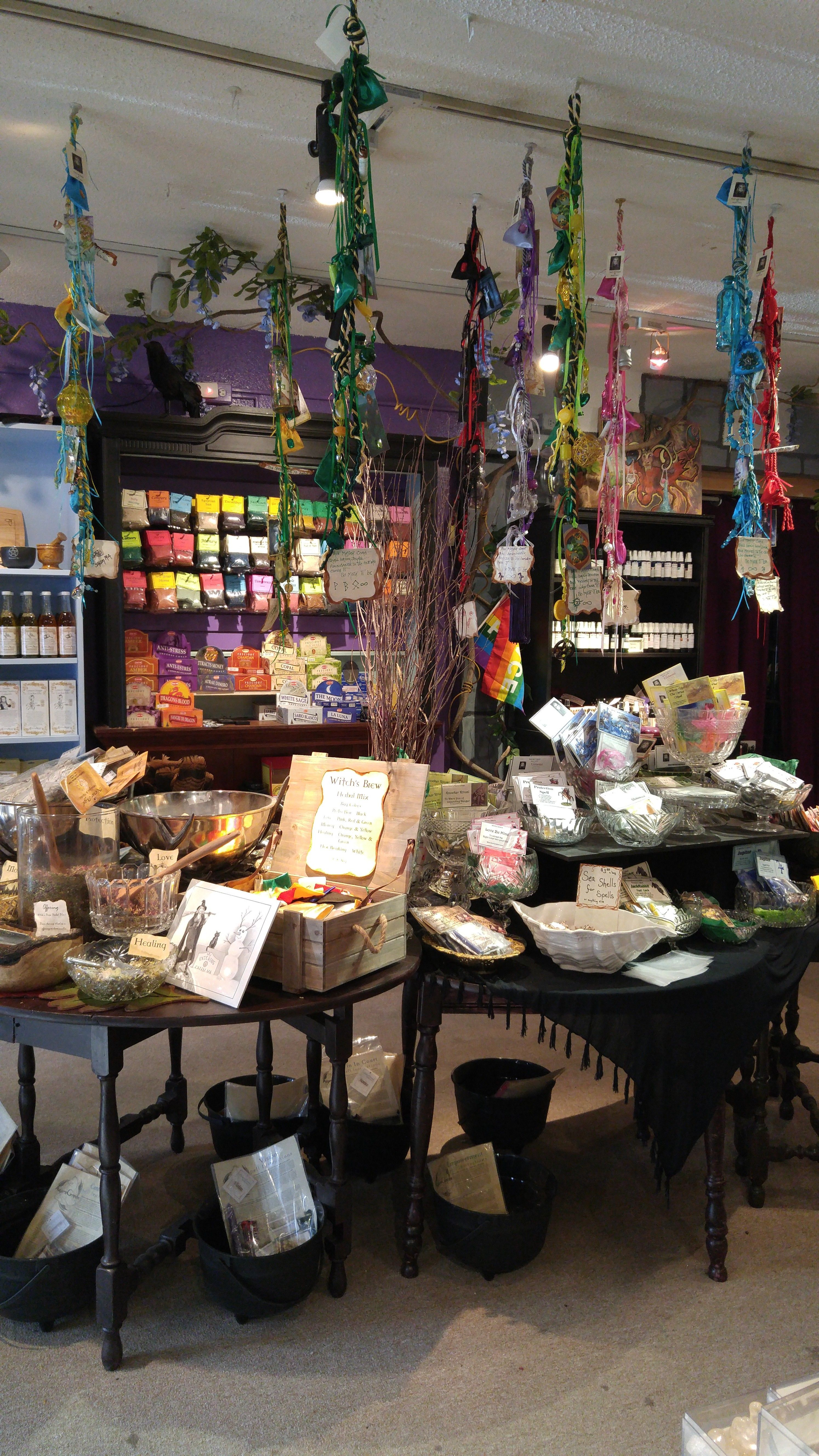 Laurie Cabot Spell Cords Enchanted Shop 98 Wharf St Salem Ma Witch Shop Metaphysical Shop Witch Room