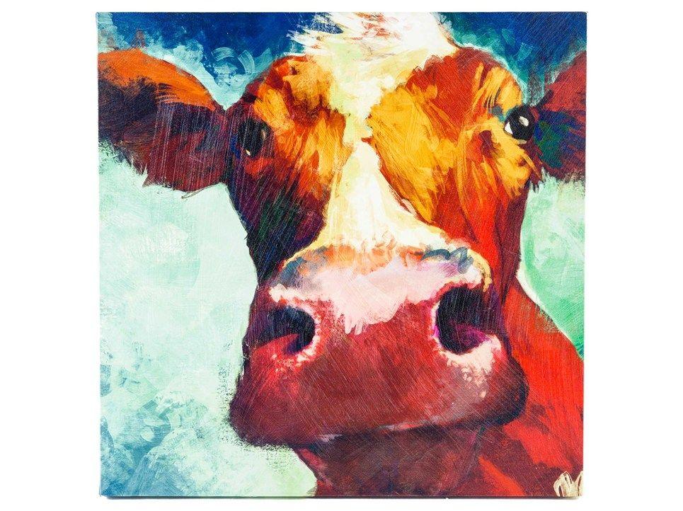 Big Cow Canvas Wall Art Hobby Lobby 39 99 Cow Canvas Cow Art