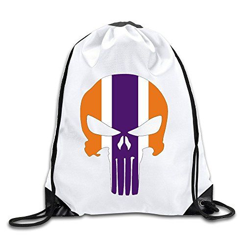 fec1a2924e BOoottty Clemson Tigers Punisher Skull Drawstring Backpac ...