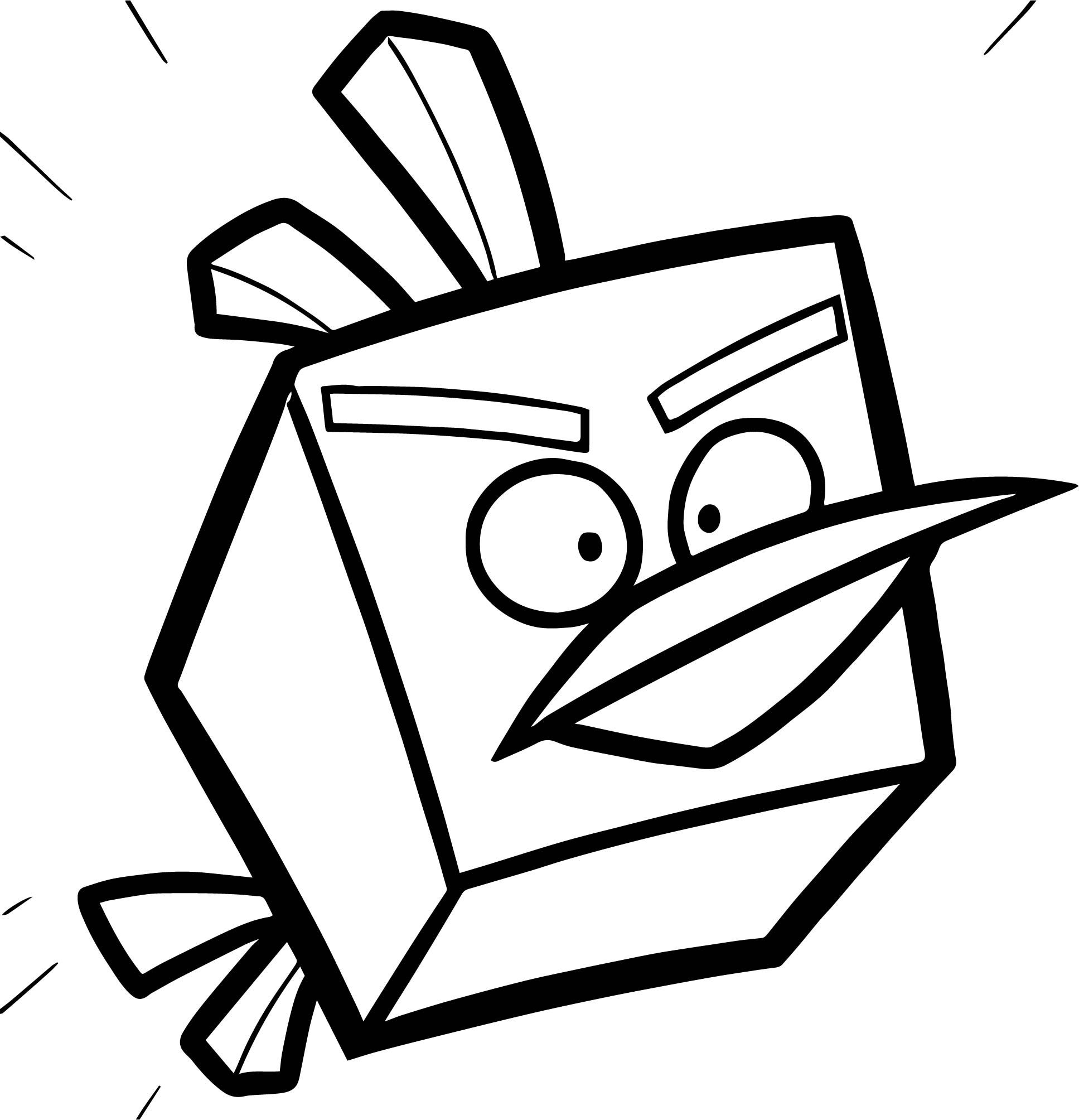 Angry Birds Ice Bird In Angry Bird Space Coloring Page In 2020 Space Coloring Pages Bird Coloring Pages Coloring Pages
