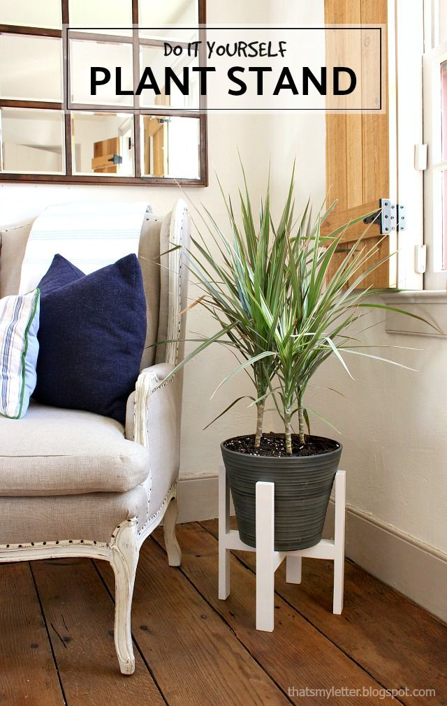 Diy plant stand with free plans thats my letter diy plant diy plant stand with free plans thats my letter solutioingenieria Gallery