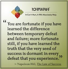 Napoleon Hill quote from his book The Law of Success