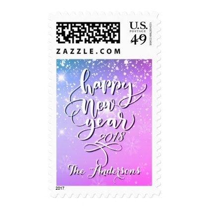 Happy New Year Twilight Snowflake Sky Postage Party Giftsdiy Partyholiday Partiesholiday Cardsnew Years Evetwilightcelebrationtemplatechristian Christmas