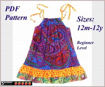 Adorable Pillowcase Dress IDEAS | Pillowcase Dress Pattern e1330744689451 Sewing Patterns For Girls .