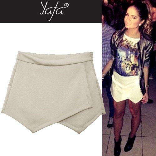 Short saia assimétrico www.yafa.com.br