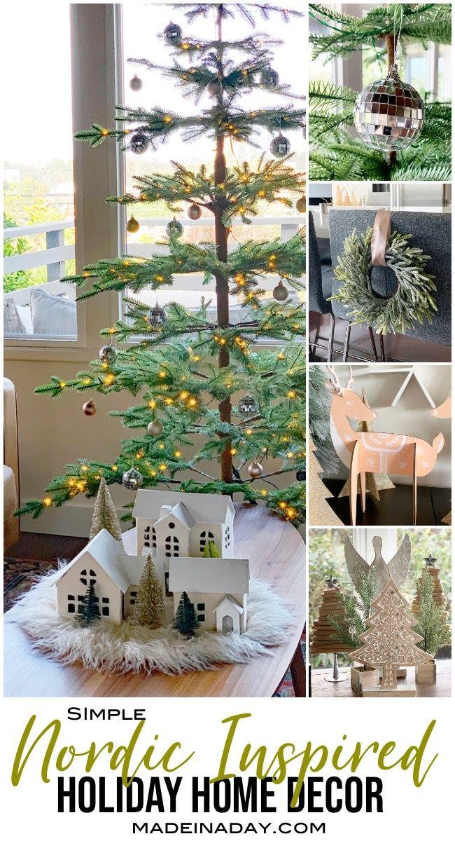 Creating Simple Scandinavian Style Holiday Decor Chic Christmas Decor Shabby Chic Christmas Decorations Scandinavian Holiday Decor