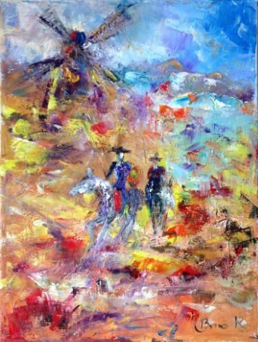 Don Quixote series Painting by Konrad Biro