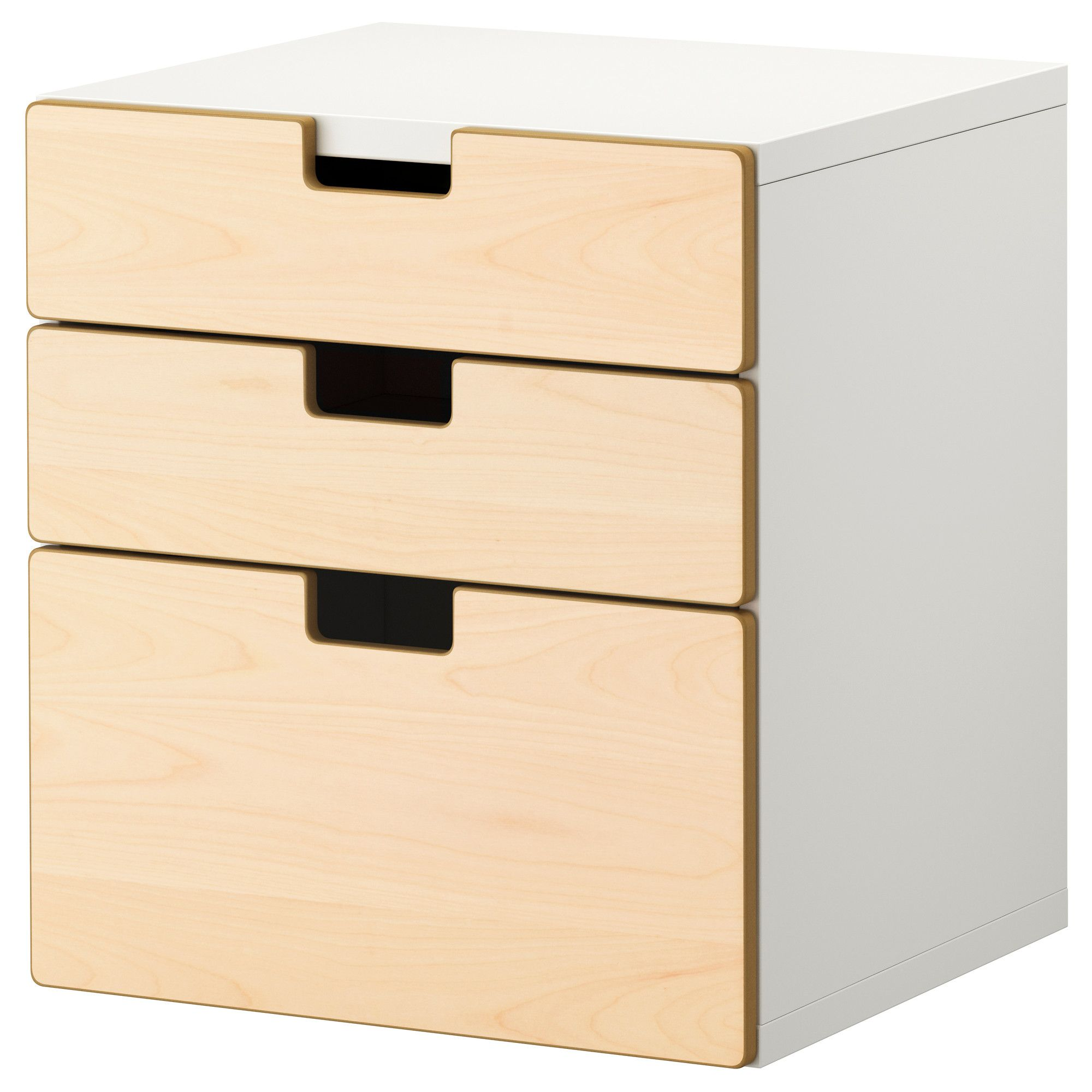 Stuva 3 Drawer Chest Birch Ikea 99 For Under The Desk Birch  # Meuble Tv Ferme Ikea