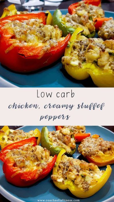 Low Carb Chicken Stuffed Peppers
