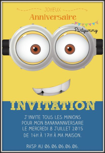 Invitation Anniversaire Gratuit Personnaliser