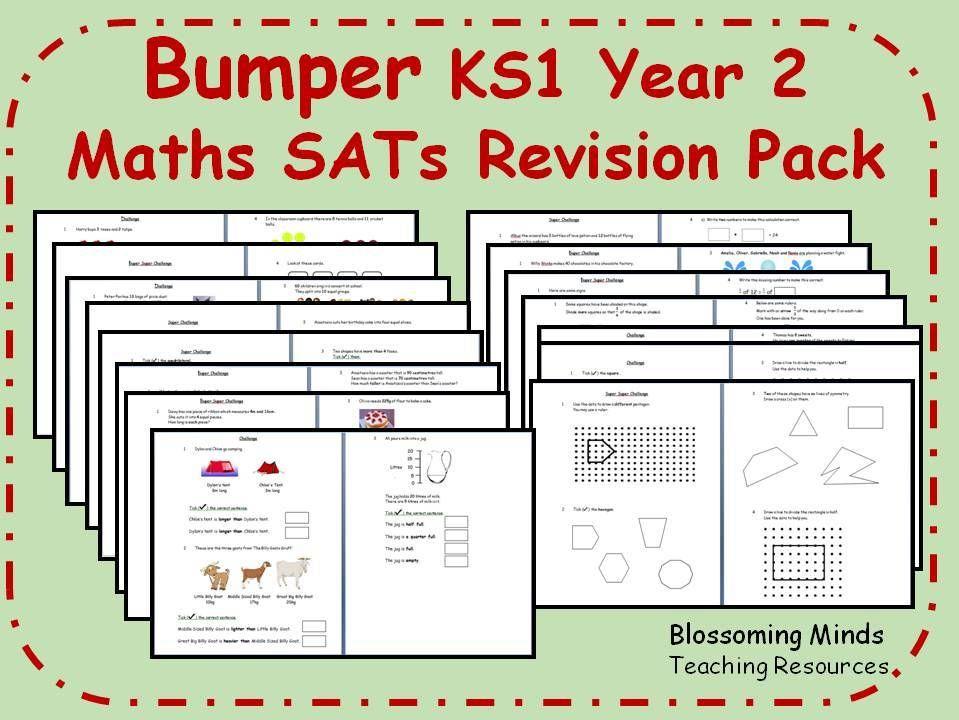 Bumper Ks1 Year 2 Maths Sats Revision Pack All Topics 3 Levels Year 2 Maths Sats Math
