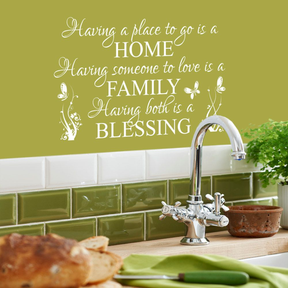 Having A Place To Go Is A Home - Wall Decal Sticker Quote lounge ...